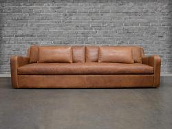 Julien Slope Arm Leather Sofa