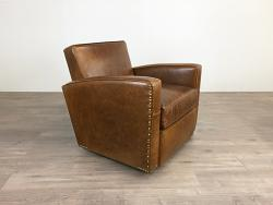 Atlas Leather Swivel Chair