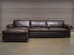 Leather Sectional: Full Grain and Top Grain Leather at...