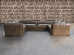 Bonham Leather U-Sofa Sectional