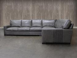 "Braxton Leather ""L"" Sectional Sofa"