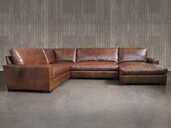 Braxton Leather L Sectional Sofa With Chaise