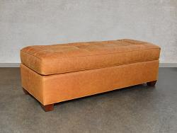 Arizona Leather Cocktail Ottoman