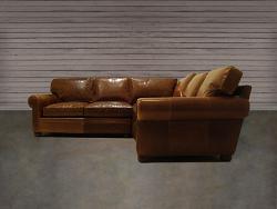 Langston Leather Corner Sectional Sofa